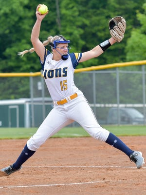 South Lyon sophomore pitcher Alexis Bonk threw a one-hitter in a 2-0 regional semifinal win over North Farmington.