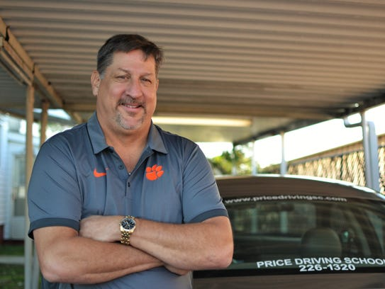 Tommy Price, owner of Price Driving School in Anderson,