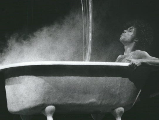 Prince in a bathtub, performing at Joe Louis Arena
