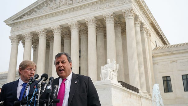 Outgoing New Jersey Gov. Chris Christie was at...