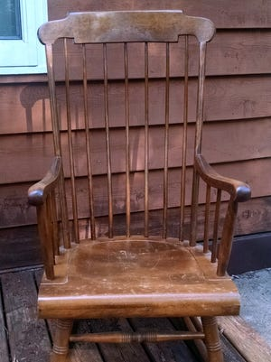 Memories of the past come back as author Jerry Apps rocks in his old rocking chair.