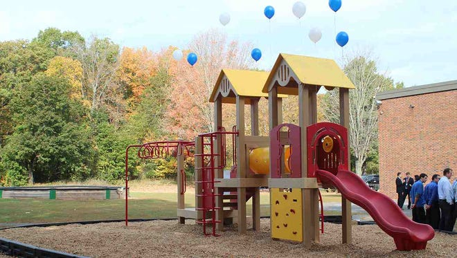 Hawthorne Park Elementary School in Willingboro has won a recycled playground like this one after participating in the Recycled Playground Challenge.