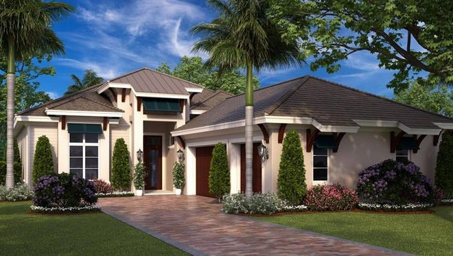 Seagate's Sea Breeze I furnished model is open for viewing and purchase at Windward Isle, south of Orange Blossom Drive on Airport-Pulling Road in Naples.