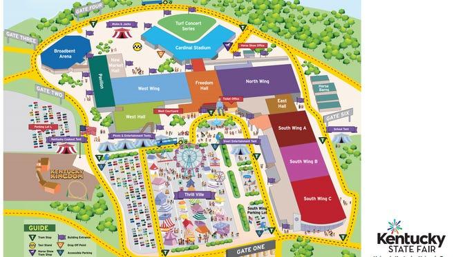 The 2017 Kentucky State Fair map.