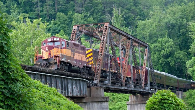 The Great Smoky Mountain Railroad begins in Bryson City, one of Smithsonian's Top 20 Cities to Visit for 2016.