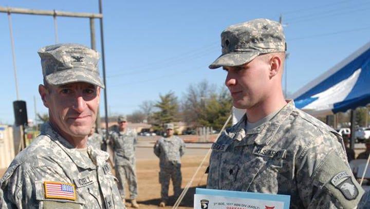Fannett-Metal grad, Army veteran earns student-athlete Inspirational Award
