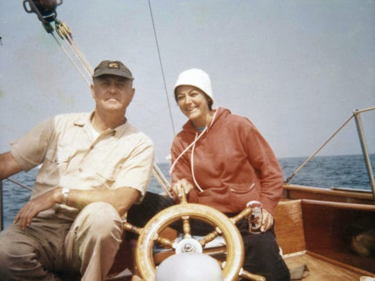 Doris Schwartz and Carl Schaffer, pictured aboard the sailboat they lived on for a time, met while working for American Airlines and spent much of their adult lives together. They never wed and never had children.