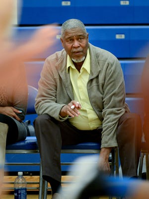 Longtime Milwaukee-area basketball coach Phil Jones, now helping out with the West Allis Central girls program, coaches against Brookfield Central.