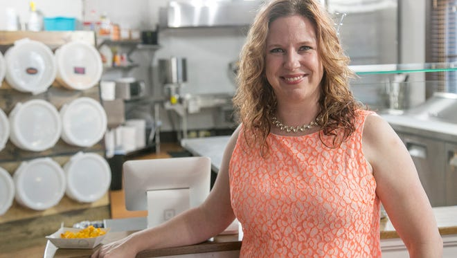 Melissa Eber is the owner of Swavory, which will soon open up next to the Brickyard in downtown Mansfield. The eatery will offer sweet and savory options, including popcorn, crepes, salads and taffy.