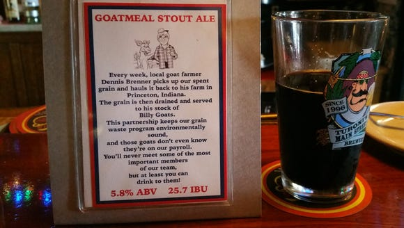 Turoni's Goatmeal Stout is named for the goats that