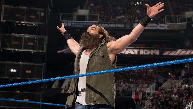 Wrestler Luke Harper in action.