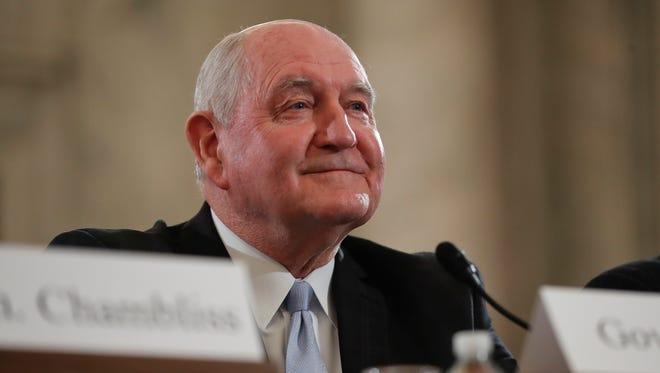 Agriculture Secretary-designate, former Georgia Gov. Sonny Perdue arrives on Capitol Hill in Washington, last week to testify at his confirmation hearing before the Senate Agriculture, Nutrition and Forestry Committee.