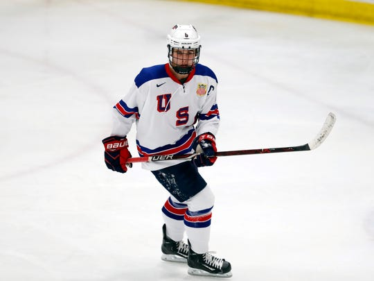 Jack Hughes is expected to be the top pick in June's NHL draft.