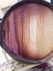 This is the barrel that fell on the head of winemaker