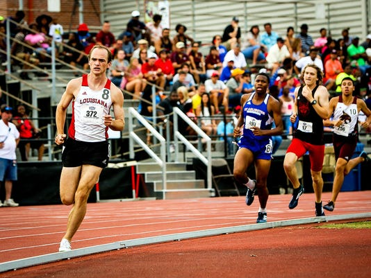 in the Sun Belt Outdoor Track and Field Championships at Ragin Cajun Track Complex in Lafayette, Louisiana on May 15, 2016.