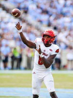 Louisville Cardinals quarterback Lamar Jackson.