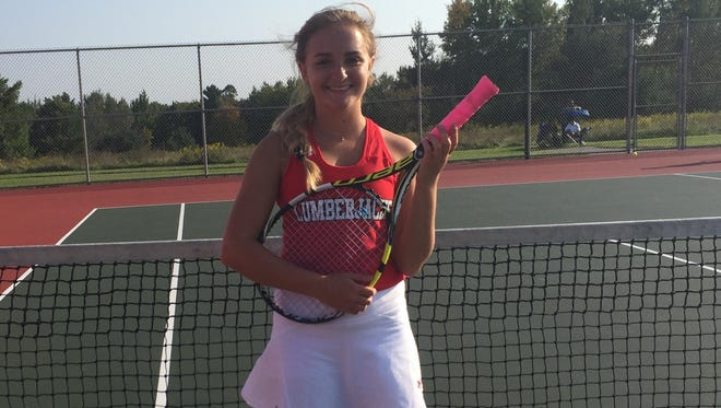 Wausau East No. 1 singles player Sami Miles is off to a 12-2 start this Fall in her senior season with the Lumberjacks