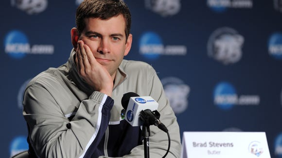 A year ago at this time, Brad Stevens was preparing his Butler Bulldogs for the NCAA Tournament.