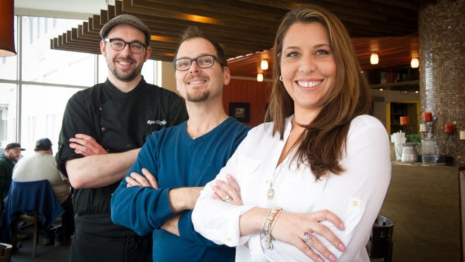 Gatehouse owners Kristen Flores-Fratto, Michael Corson and chef Ross Hopkins, all of Rochester.