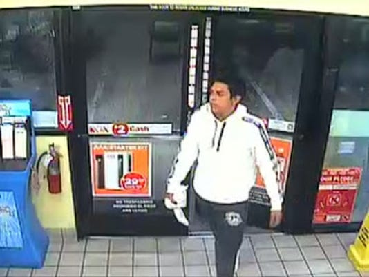 Suspect involved at robbery at gas station