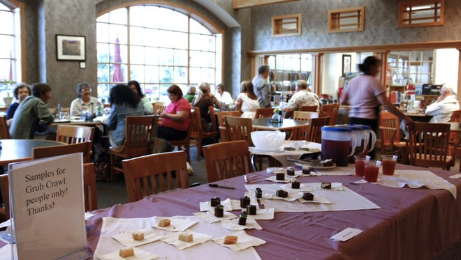 """""""I did not expect this many people to come in just for desserts,"""" Ann Oneill, General Manager of the Chapbook Cafe inside Schuler's Books said.  She estimated they had about 300 guests during A Capitol Affair Grub Crawl Wednesday evening in Eastwood Towne Center."""