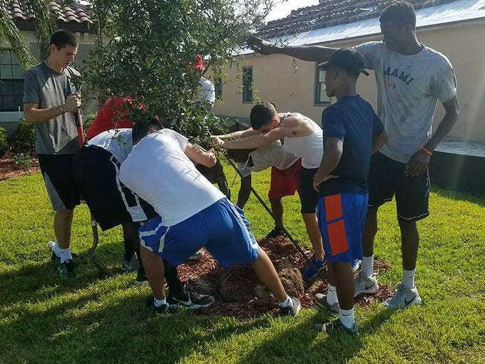 Florida Prep basketball players took part in community