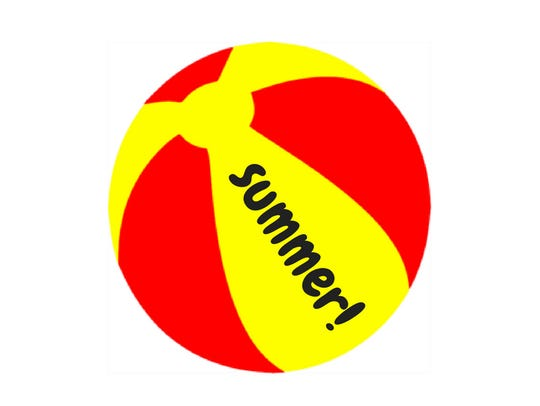 Red and yellow beach ball.