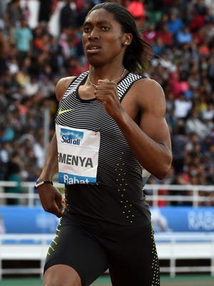 Caster Semenya (RSA) wins the women's 800m in 1:56.64 during the 2016 Meeting International Mohammed VI díAthlÈtisme at Prince Moulay Abellah Stadium.