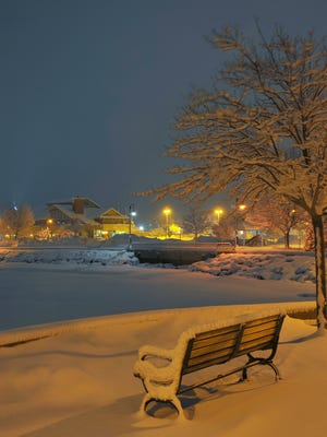 Bay View Park on Sturgeon Bay's West Side early this morning.