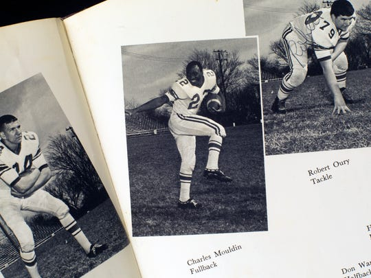 Charles Moulden is seen as a member of the football team in the 1964 Sevier County High School yearbook. His family name is misspelled. (Paul Efird/News Sentinel)