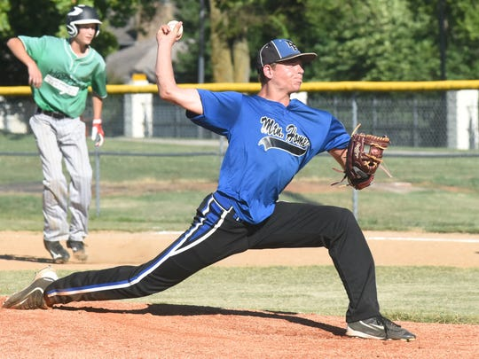 Mountain Home Blue Devils pitcher Asa Smith delivers