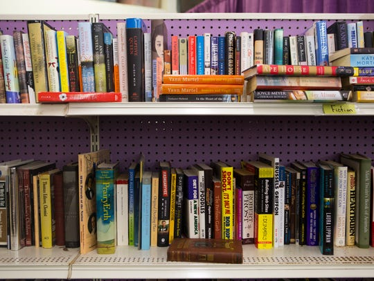 Books for sale at Hippo Thrift in Newport, Del.