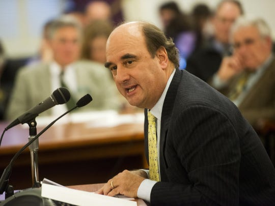 Skip Vallee, CEO of R.L. Vallee Inc., testifies in 2013 at the Statehouse.