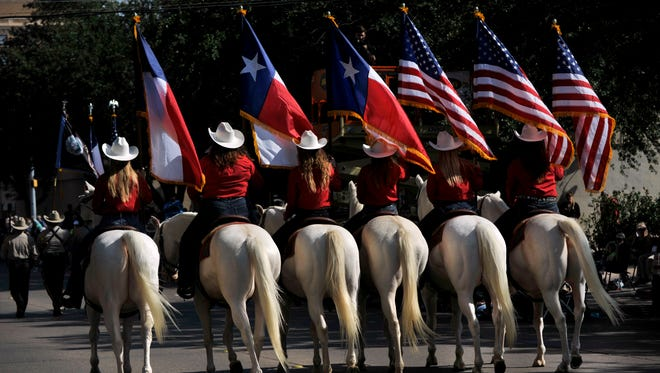 The Hardin-Simmons University Six White Horses are scheduled to participate in Tuesday evening's parade in downtown Abilene. The parade begins at 6:30 p.m. and kicks off two days of July 4 activities in town.