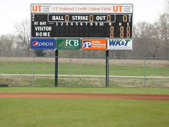 Westview's new scoreboard at the Martin Recreation