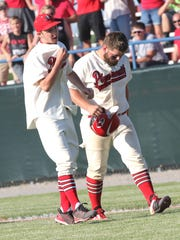 Plymouth's Seth Bailey is consoled by Brayden Creveling