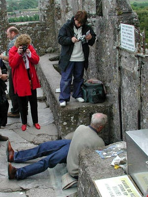 Tourists come in droves to smooch Ireland's Blarney Stone (said to make you silver-tongued), but I'd rather kiss a horse.