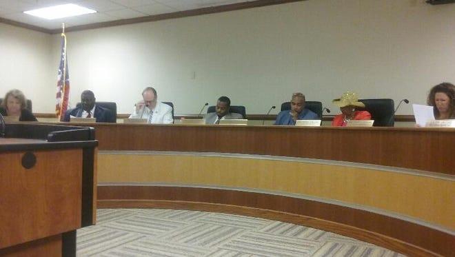 The Monroe City School Board met Tuesday night.