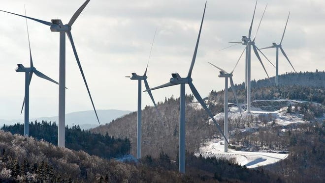 The Kingdom Community wind project in Lowell on Dec. 13, 2012.