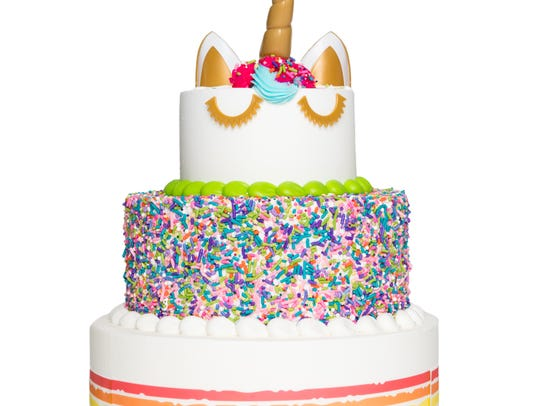 The tiered unicorn cake available at Sam's Club.