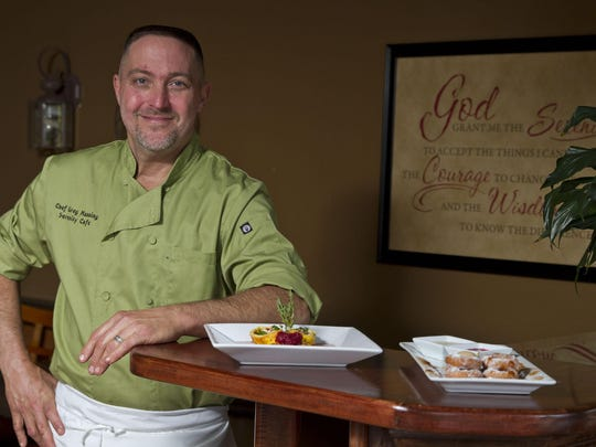 Greg Manning is chef and owner of Serenity Cafe in Toms River.