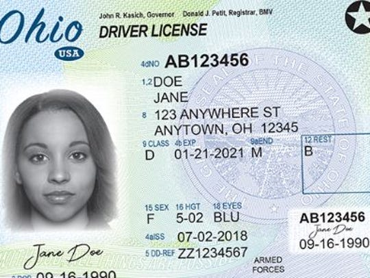 New Ohio drivers license meets higher security standards.