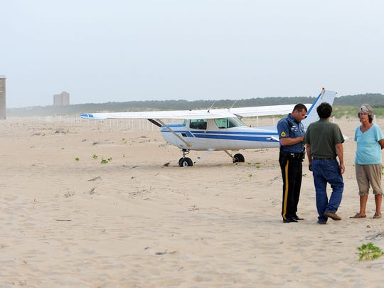 A Cessna 172 airplane made a emergency landing on the beach north of Rehoboth Beach on Wednesday July 2nd. No injuries were reported as the aircraft with 2 people on board had engine trouble and landed on the beach in Cape Henlopen State Park north of the Towers north of North Shores. Damage to the plane was moderate with a bent propeller and broken nose gear. DNREC and Delaware State Police were on the scene with Rehoboth Beach and Lewes Fire Co's.