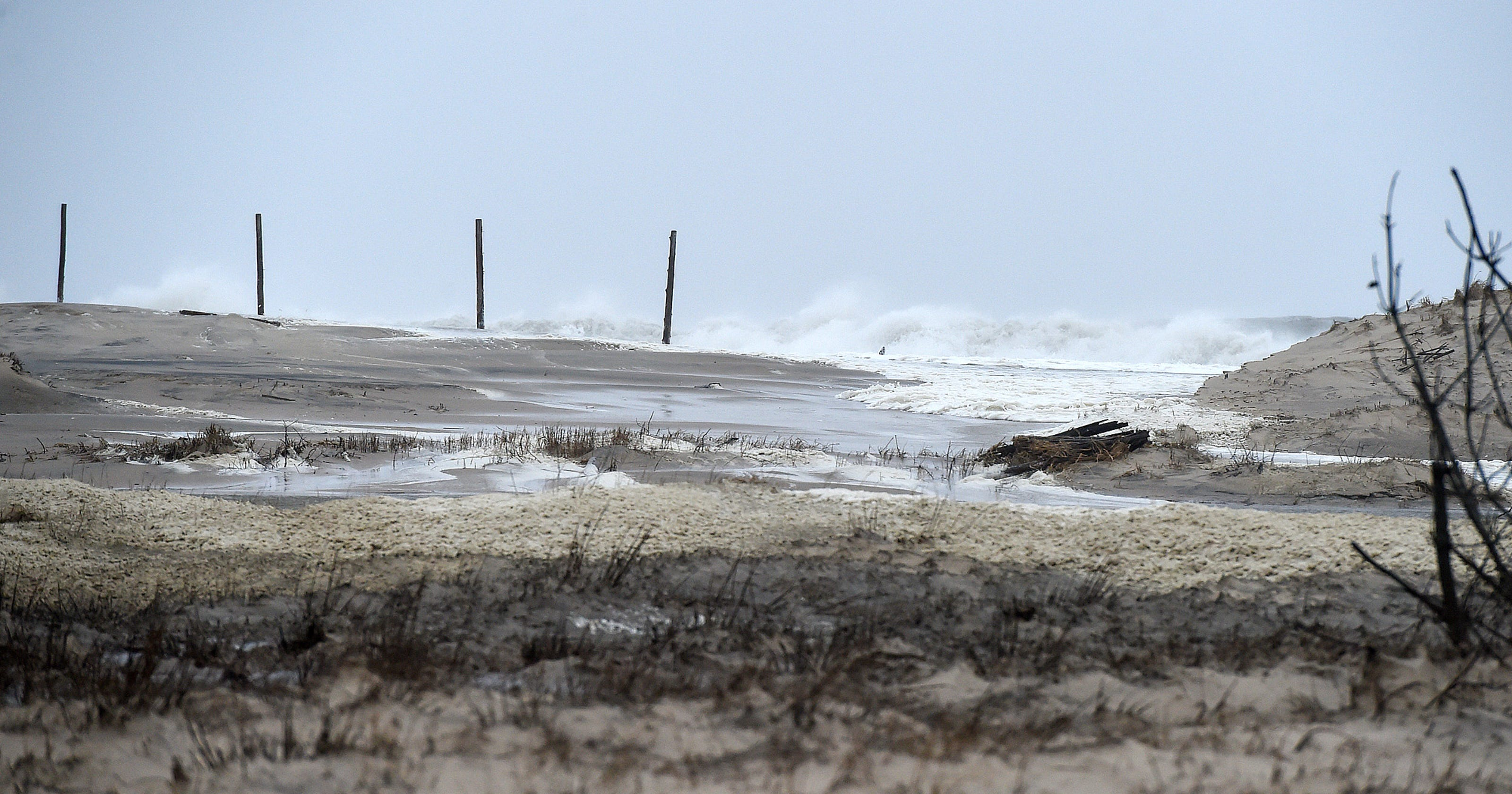Near Record High Tide Causes Major Delaware Beach Flooding