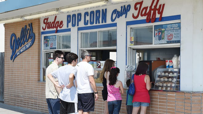 Dolle's Candyland on the Boardwalk and Rehoboth Avenue in Rehoboth Beach serves customers on the Friday before Memorial Day.