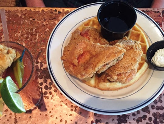 SUNDAY: Chicken & Waffles at  Five Sisters.