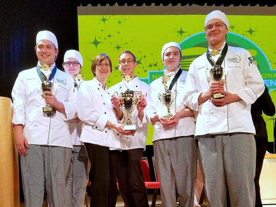 The Greater Southern Tier BOCES culinary arts team captured second place in the 14th annual New York State ProStart Invitational recently. From left are Anthony Forte, Audrianna Boughton, Instructor Karen Mecum, Teaching Assistant Ryan Anderson, Samantha Janowski and Chadd Bunnell.