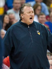 West Virginia Mountaineers head coach Bob Huggins.