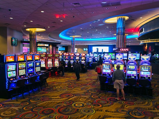Customers arrive at Southland Park Gaming and Racing