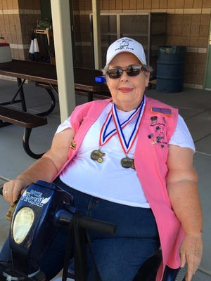 Connie Christiansen won medals at the Fall Las Vegas Nevada Senior Games Target Pistol event  in September.